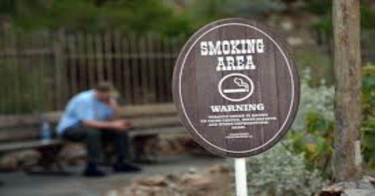 Disney Smoking area