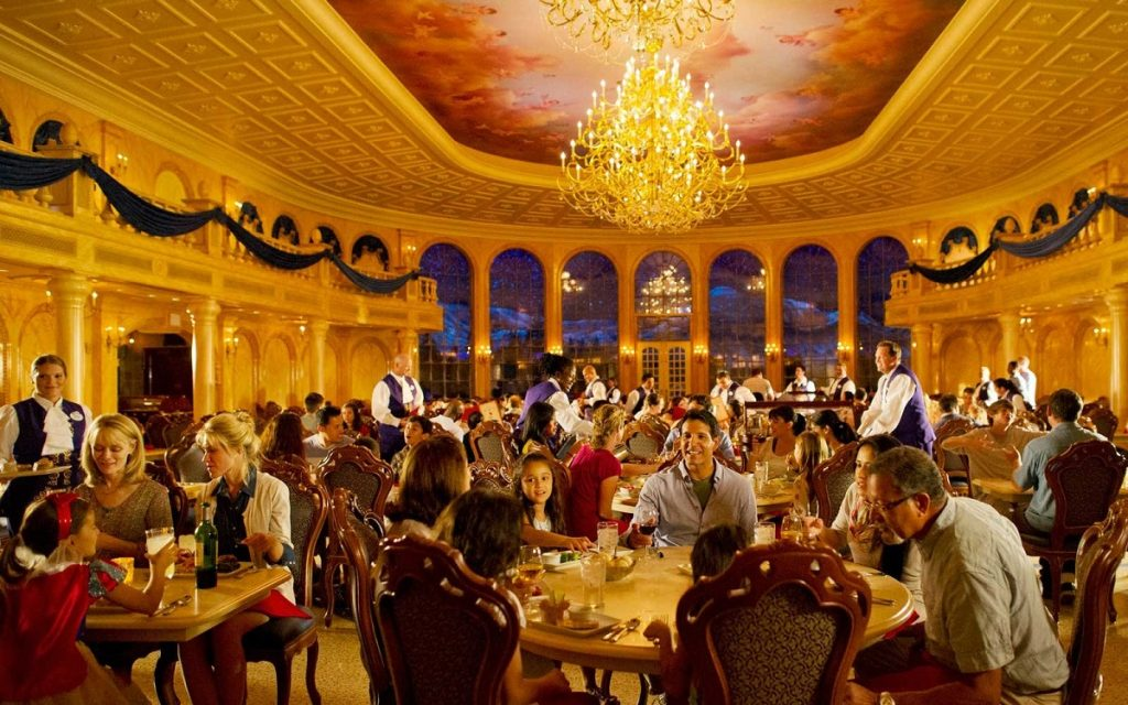 Dining at Be Our Guest Restaurant.